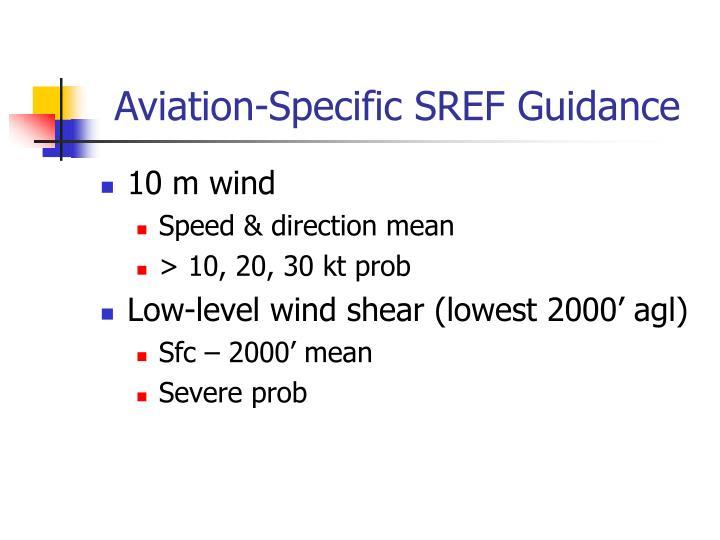 Aviation-Specific SREF Guidance