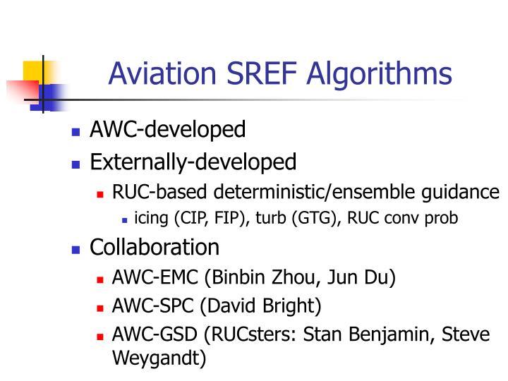 Aviation SREF Algorithms