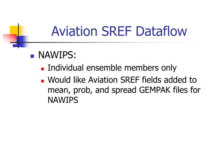 Aviation SREF Dataflow