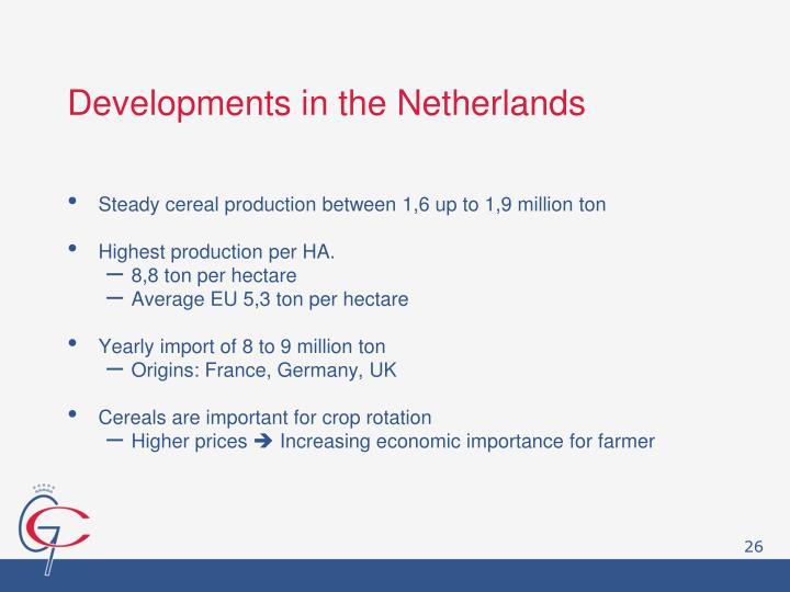 Developments in the Netherlands