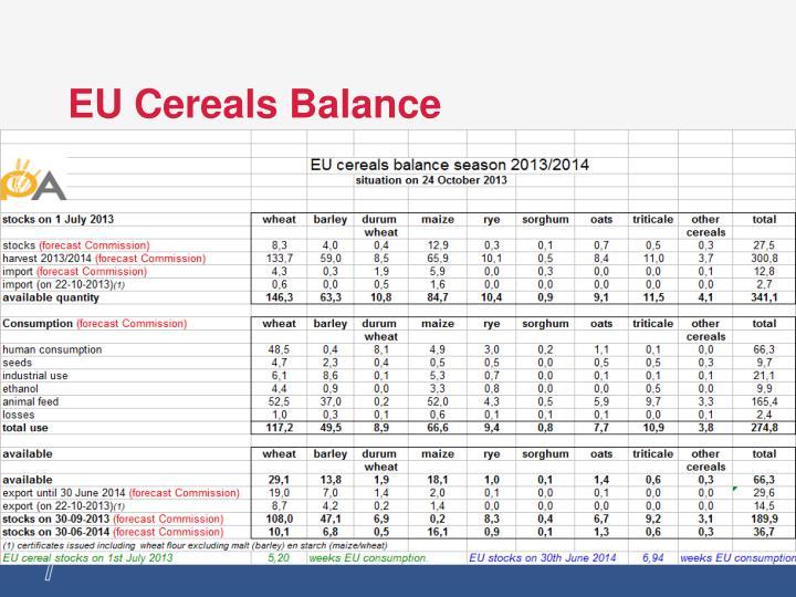 EU Cereals Balance