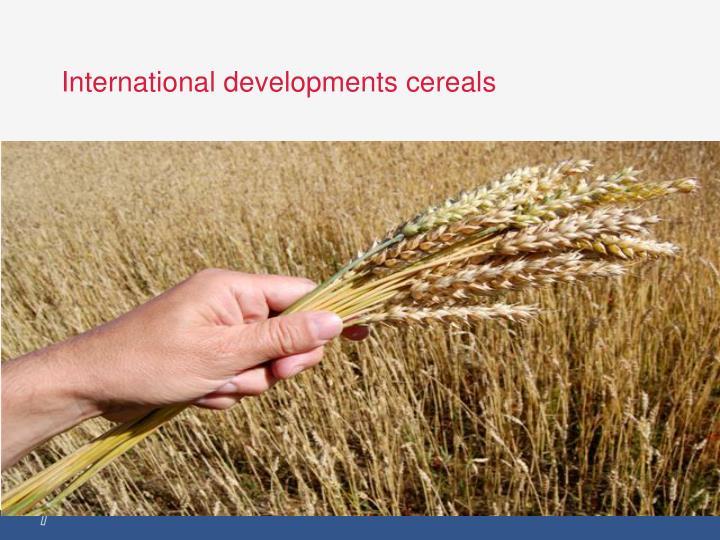International developments cereals