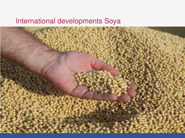 International developments Soya