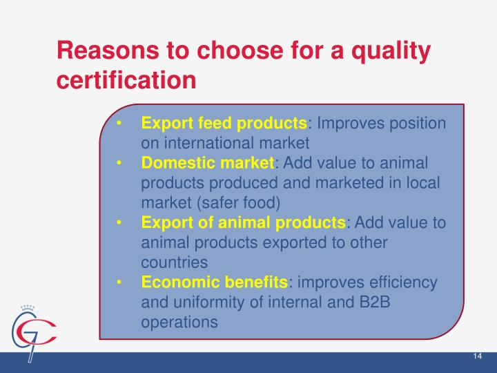 Reasons to choose for a quality certification