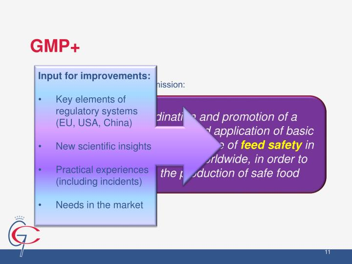 GMP+ International's mission: