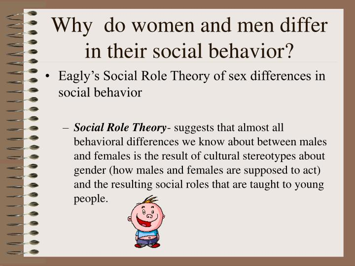 Why  do women and men differ in their social behavior?