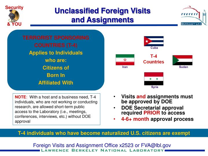 Unclassified Foreign Visits