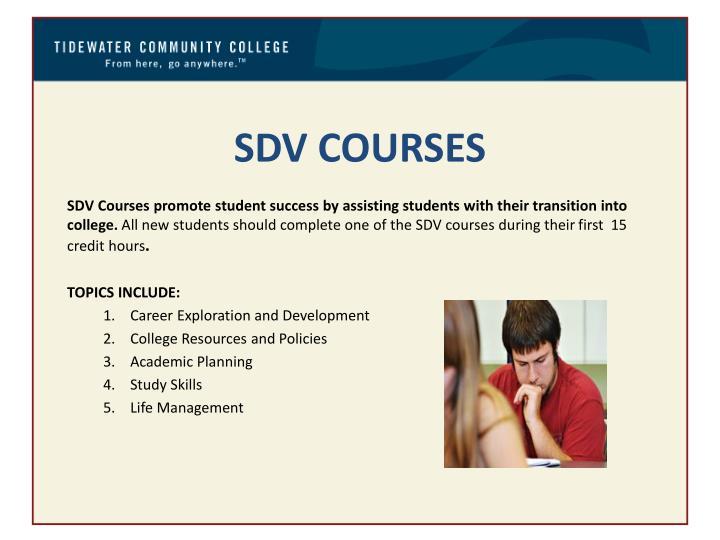 SDV COURSES