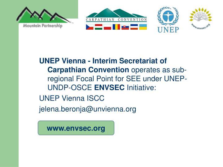 UNEP Vienna - Interim Secretariat of Carpathian Convention
