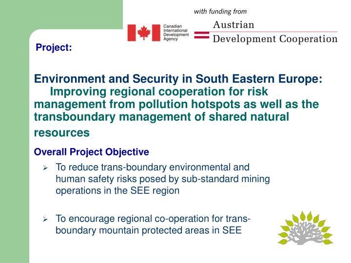 Environment and Security in South Eastern Europe: