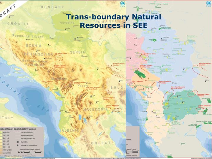Trans-boundary Natural Resources in SEE