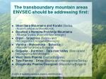 the transboundary mountain areas envsec should be addressing first