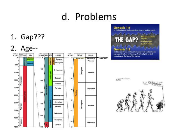 d.  Problems