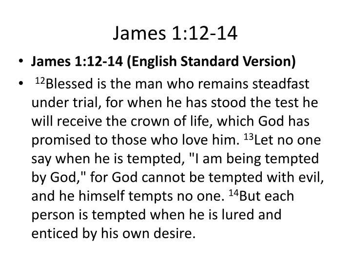 James 1:12-14