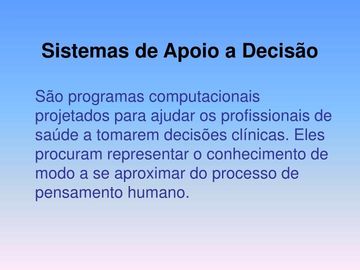 Sistemas de Apoio a Decisão