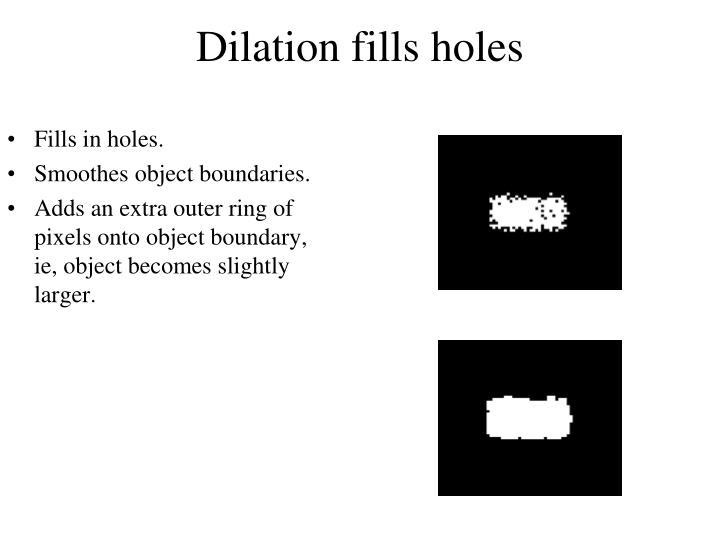 Dilation fills holes