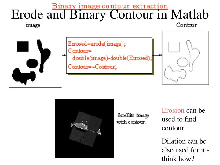 Erode and Binary Contour in Matlab