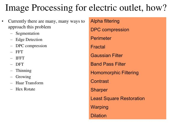 Image Processing for electric outlet, how?