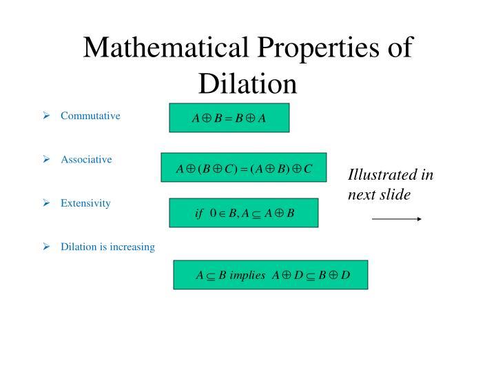 Mathematical Properties of Dilation
