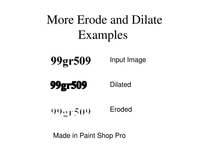More Erode and Dilate Examples