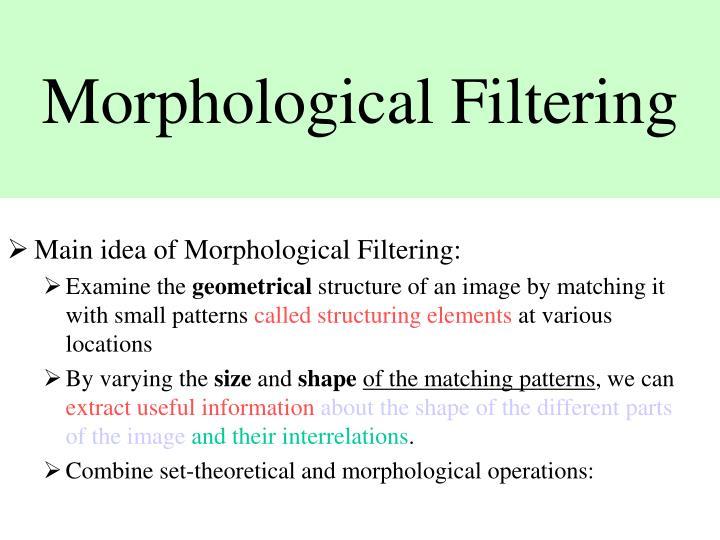 Morphological Filtering