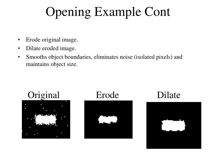 Opening Example Cont