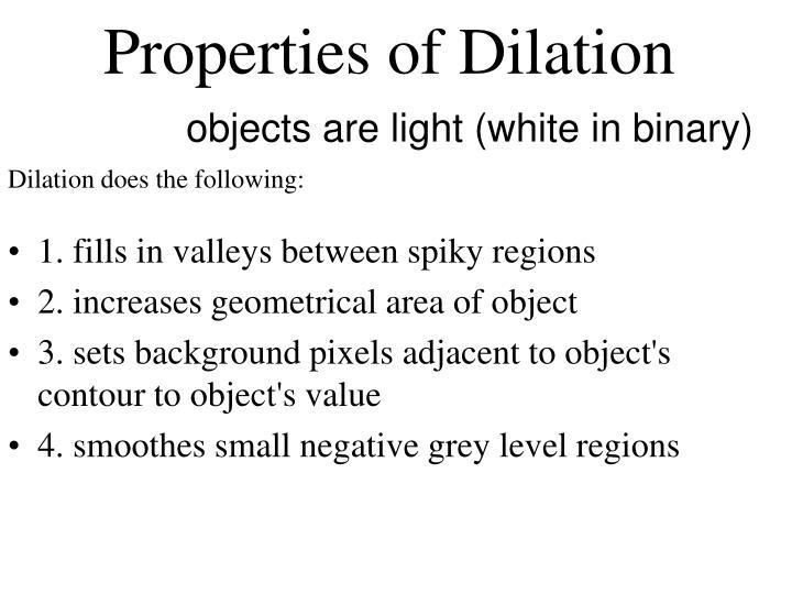 1. fills in valleys between spiky regions