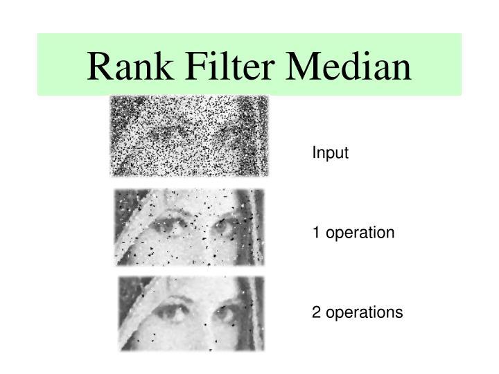 Rank Filter Median