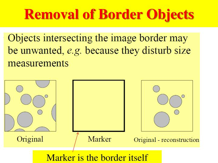 Removal of Border Objects