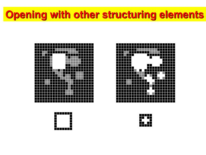 Opening with other structuring elements