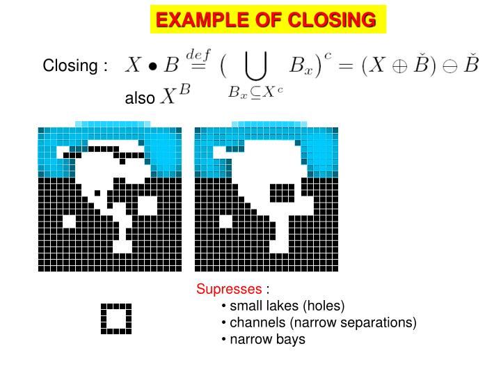 EXAMPLE OF CLOSING