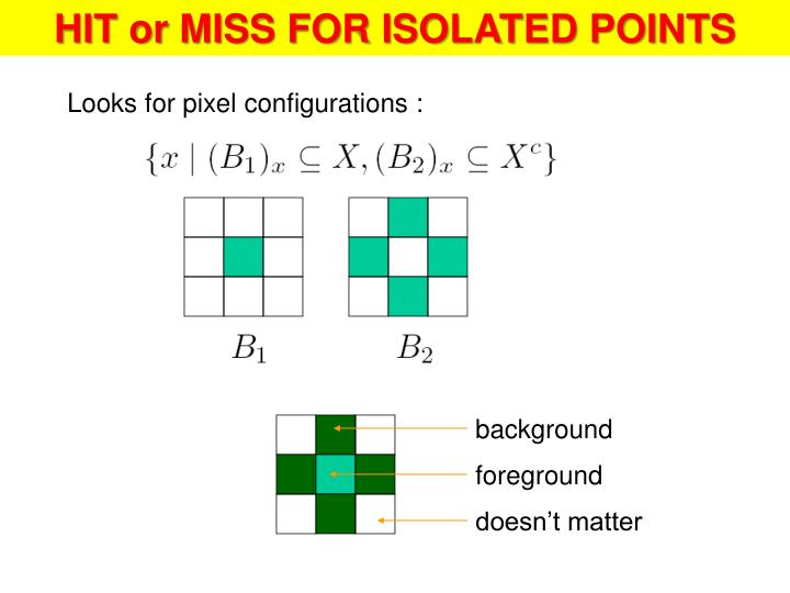 HIT or MISS FOR ISOLATED POINTS