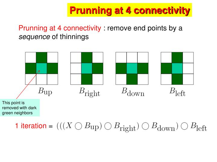 Prunning at 4 connectivity