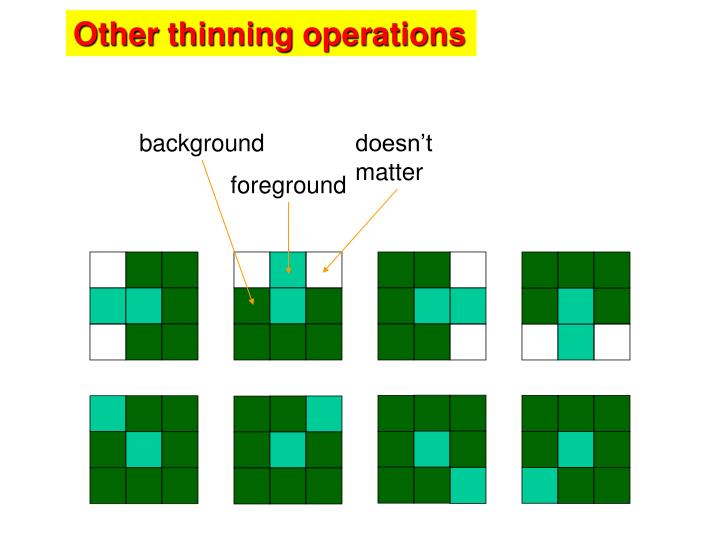 Other thinning operations