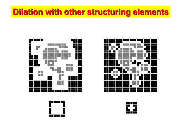 Dilation with other structuring elements