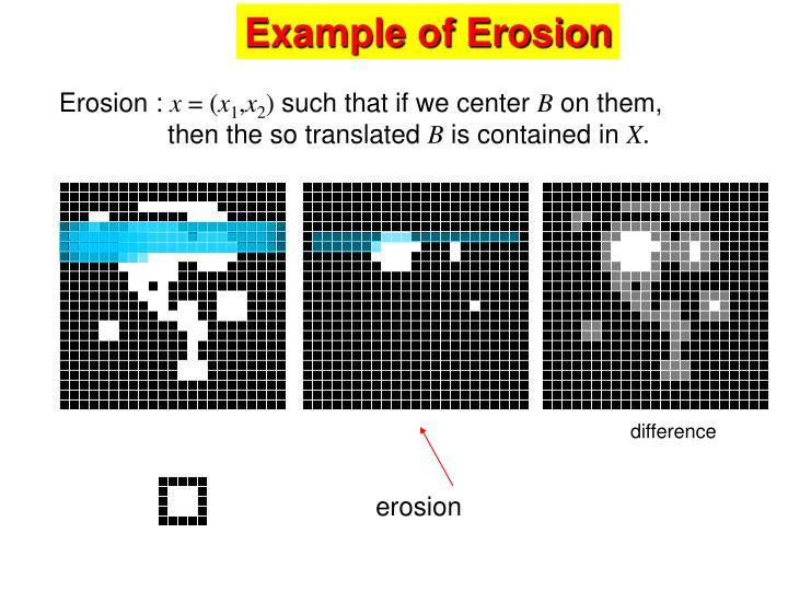 Example of Erosion