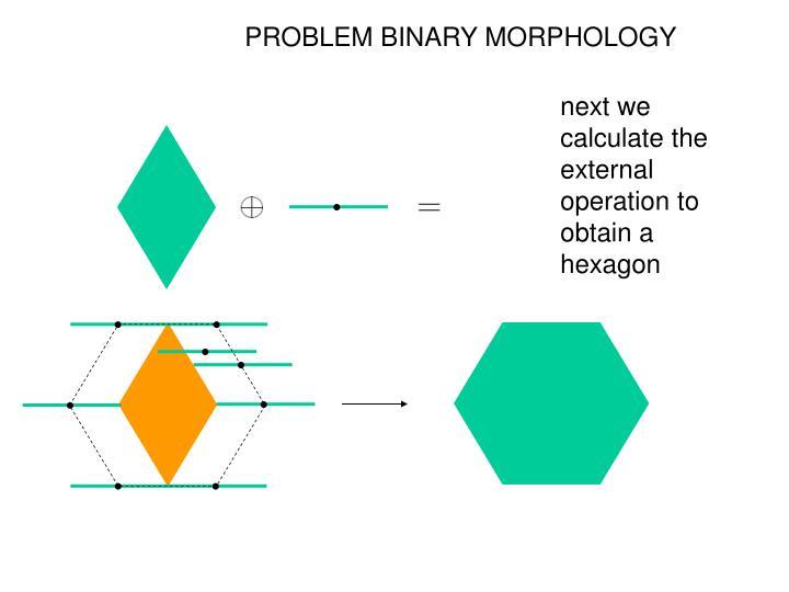 PROBLEM BINARY MORPHOLOGY
