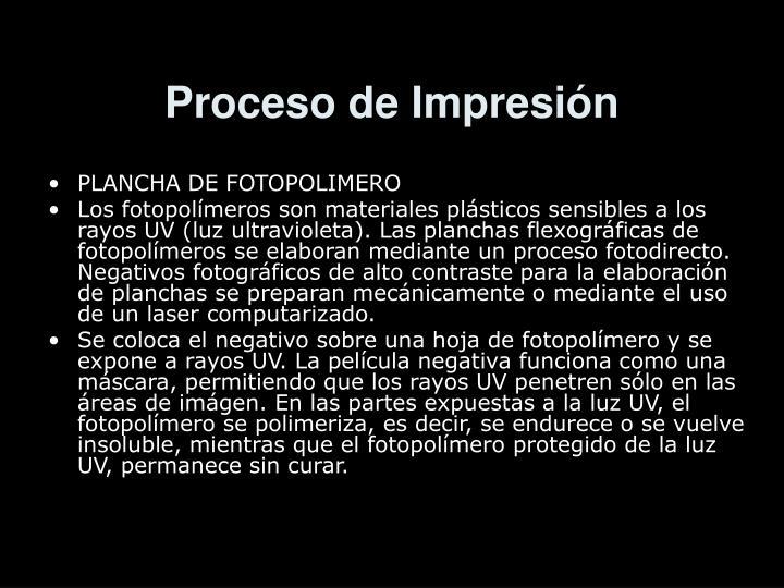 Proceso de Impresión