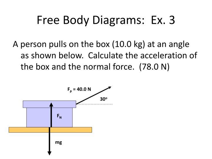Free Body Diagrams:  Ex. 3