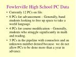 fowlerville high school pc data