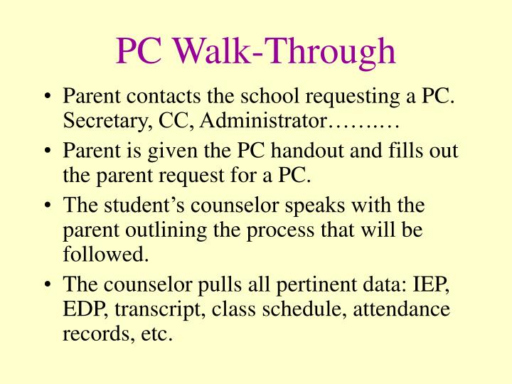 PC Walk-Through