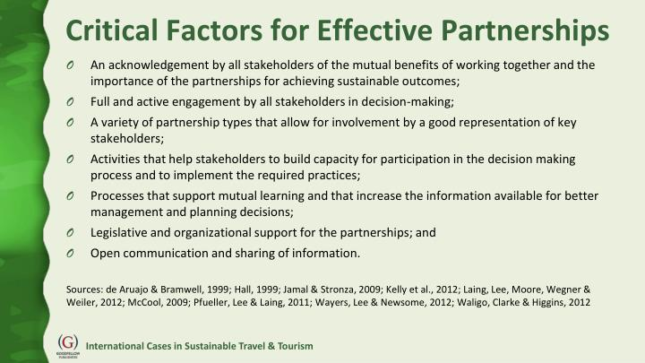Critical Factors for Effective Partnerships