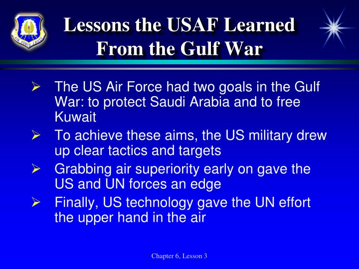 Lessons the USAF Learned