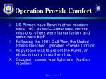operation provide comfort