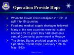 operation provide hope