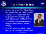 us aircraft in iraq