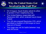 why the united states got involved in the gulf war