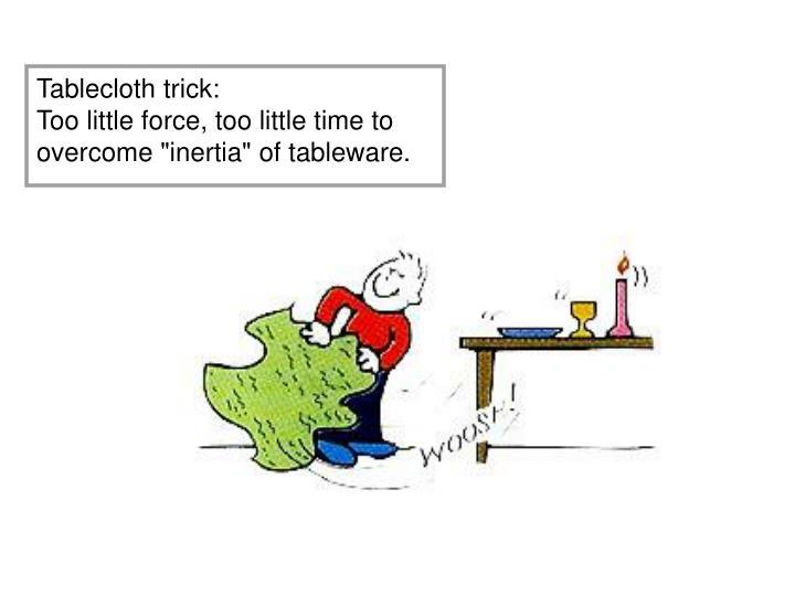Tablecloth trick: