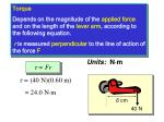 units for torque