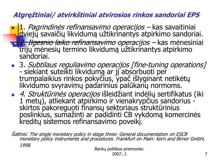 Atgręžtiniai/ atvirkštiniai atvirosios rinkos sandoriai EPS